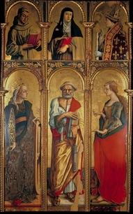 Carlo Crivelli, Trittico di Montefiore  Polo Museale di San Francesco, MONTEFIORE DELL'ASO