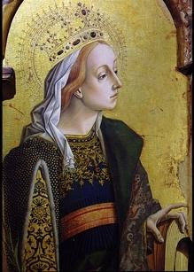 Carlo Crivelli, Santa Caterina d' Alessandria (part. del Trittico di Montefiore)  Polo Museale di San Francesco, MONTEFIORE DELL'ASO