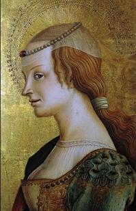 Carlo Crivelli, Santa Maria Maddalena (part. del Trittico di Montefiore)  Polo Museale di San Francesco, MONTEFIORE DELL'ASO