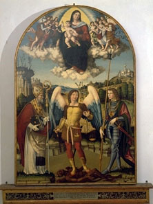 Vincenzo Pagani, Madonna in gloria con Bambino e Santi Martino, Michele Arcangelo e Giorgio