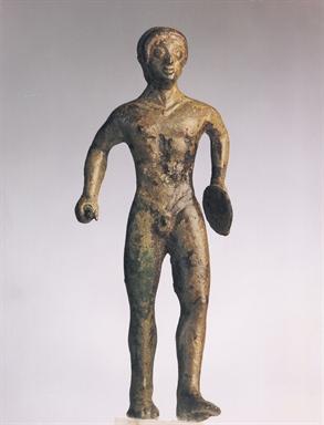 Bronzetto dalla stipe del Targo, Discoforo