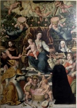 Benedetto Nucci, Madonna del Rosario e Santi