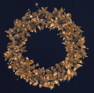 Corona aurea dalla necropoli gallica di Montefortino d'Arcevia, fine IV-inizi II sec. aC.