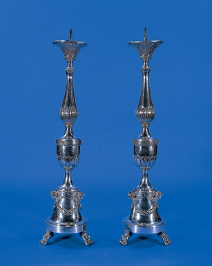 Paolo Bonessi, coppia di candelieri, fine XIX secolo