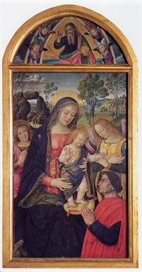 Bernardino di Betto detto il Pinturicchio, Madonna della pace