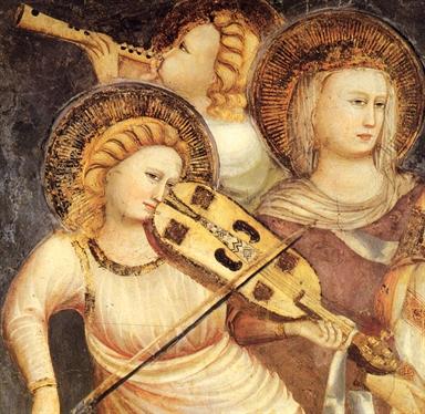 Cappellone di San Nicola, Scuola riminese, Angeli musicanti (part.)