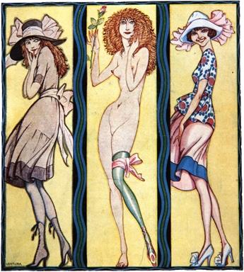 Renzo C. Ventura, copertina de Le adolescenti di Mario Mariani, Modernissima, Milano 1919