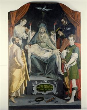 Simone De Magistris, Pietà e Santi