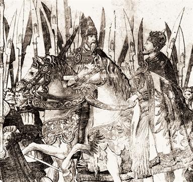 Nicolaus Hogenberg, Il trionfo di Carlo V (particolare)
