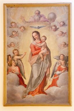 Taddeo e Federico Zuccari, Madonna con Bambino in gloria e angeli