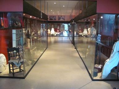 Veduta di una delle sale del museo