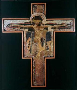 pittore spoletino, sec. XIII, Crocifisso