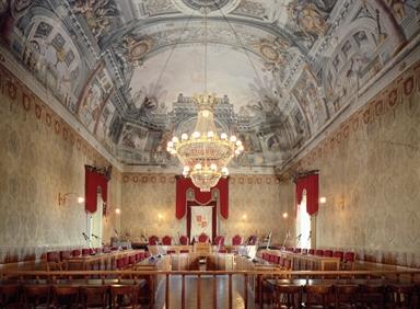 Veduta interna di Palazzo dei Priori