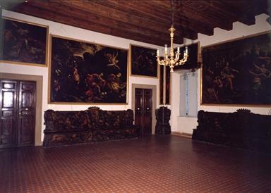 Salone di rappresentanza del Palazzo Mastai Ferretti, sede del Museo Pio IX