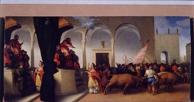 Santa Lucia davanti al giudice Pascasio