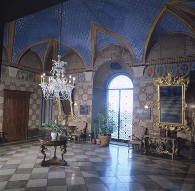 Veduta interna di Palazzo dei Priori, sede della Pinacoteca Civica