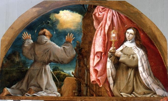 Risultati immagini per Il testamento di San Francesco d'Assisi a santa chiara
