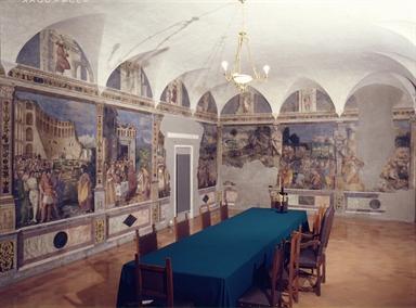 Veduta interna di Palazzo Roverella con le Storie di Mosè