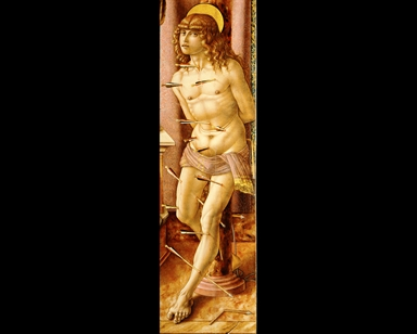 Madonna con Bambino in trono, San Francesco d