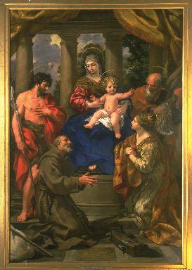 Madonna con Bambino, San Giovanni Battista, San Felice da Cantalice, Sant
