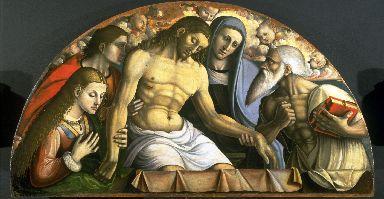 Cristo deposto con la Madonna, Santa Maria Maddalena, San Giovanni Evangelista e San Girolamo.