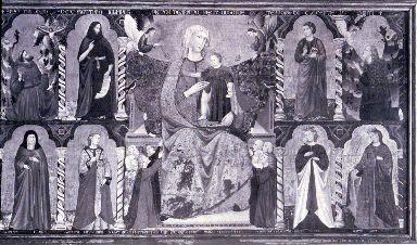 Madonna con Bambino in trono tra Santi e devoti
