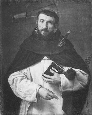 Ritratto di Angelo Ferretti in veste di San Pietro Martire