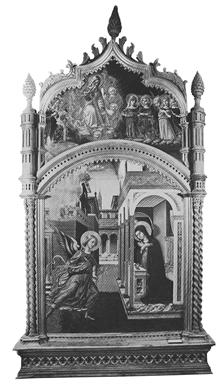 Annunciazione; Dio Padre e angeli