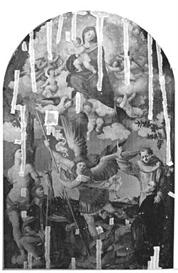 Madonna con Bambino in gloria, San Sebastiano, San Rocco, San Michele Arcangelo, Sant