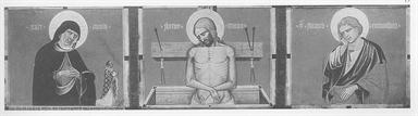 Cristo in pietà tra la Madonna e San Giovanni Evangelista