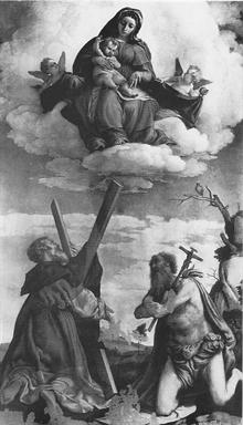 Madonna con Bambino in gloria, San Girolamo e Sant
