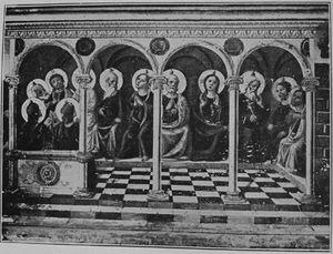 Crocifissione di Cristo/ altri (Trittico di Camerino)
