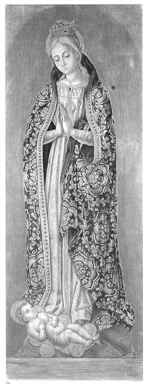 Madonna in adorazione di Gesù Bambino