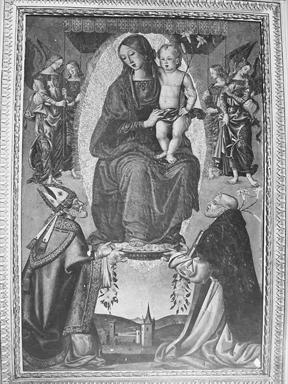 Madonna con Bambino in gloria con San Severino e San Domenico