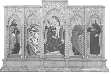Madonna con Bambino in trono e angeli