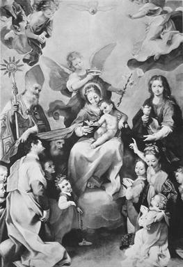 Madonna con Bambino tra San Geronzio, Santa Maria Maddalena e donatori