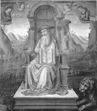 San Girolamo in trono