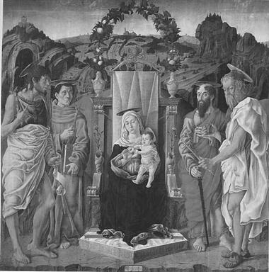 Madonna con Bambino in trono con San Giovanni Battista, San Francesco d