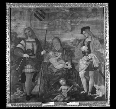 Madonna con Bambino con San Crescentino e San Donnino