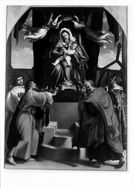 Madonna con Bambino, Angeli, Santo Stefano, San Giovanni Evangelista, Simone, Giuda e Lorenzo