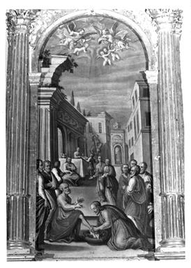 Cristo lava i piedi degli apostoli