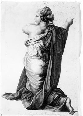 Figura femminile inginocchiata