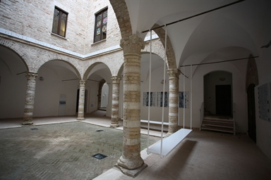 Cortile di Palazzo Bonaventura Odasi, sede del Museo della Città