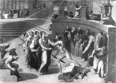 Carnefice presenta a Salomè la testa di San Giovanni Battista