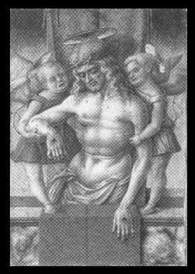Cristo nel sepolcro sorretto da due angeli