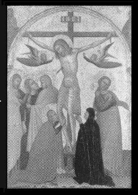 Crocifissione di Cristo e donatrice