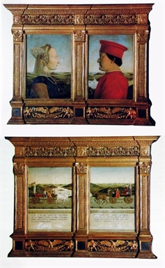 ritratti e trionfi dei duchi di Urbino