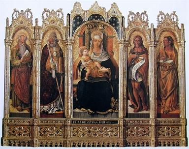 Madonna con Bambino, San Girolamo, Sant