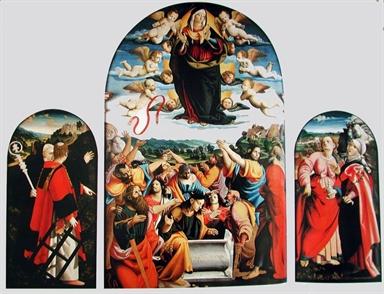 Assunzione della Madonna, San Lorenzo, San Benedetto, Santa Maria Maddalena e Santa Scolastica/ altri
