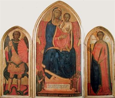 Madonna con Bambino, San Michele Arcangelo e Sant